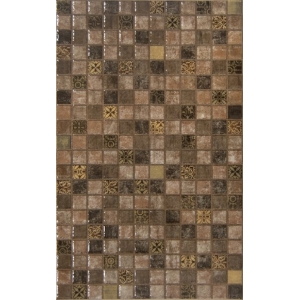 DECORADO DRUID MARRON BRILLO 1ª 25x40 pieza