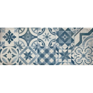 Azulejo DECOR MONTBLANC BLUE BRILLO 1ª 20x50