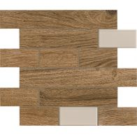 BIO TIMBER MOSAICO WALL OAK PATINATO SCURO 1ª 31x31